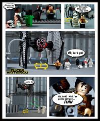 FN-2187:  A Hero Awakens (WattyBricks) Tags: lego star wars episode vii the force awakens finn fn2187 poe dameron first order escape tie fighter 75101