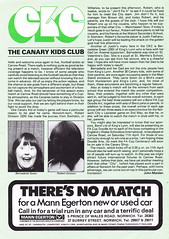 Norwich City vs Arsenal - 1981 - Page 6 (The Sky Strikers) Tags: norwich city arsenal football league division one carrow road official match day magazine 30p