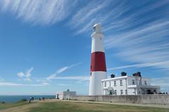 Blue Streak pt. II (NVOXVII) Tags: lighthouse portlandbill dorset bluesky streaks clouds summer landscape vibrant coast nikon architecture