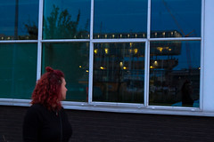 Through The Looking Glass (L'inspiration vient en expirant) Tags: night light reflection amsterdam molenwijk noord netherlands holland self portraits architecture building photography traveling travel europe boat