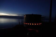DSC04044 (The Man-Machine) Tags: dusk sky lake water stove msrreactor