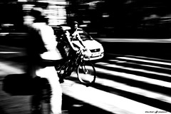 Pulse in the City Budapest (dalibor.papcun) Tags: dynamic paning bw monochromat cycle biker urban budapest city life move speed town street stphotography streetbudapest pulse nikon