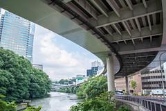 [HDR] under the highway (gemapozo) Tags: k1 hdr highway pentax tokyo japan structure 港区 東京都 日本 jp smcpentaxdfa28105mmf3556eddcwr 弁慶濠 高速道路