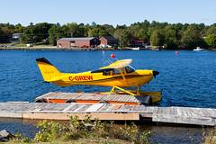 Private Cessna 175B Skylark C-GREW (jbp274) Tags: greenville 52b greenvilleseaplaneflyin flyin lake water airplanes seaplane floatplane cessna c175 skylark mooseheadlake