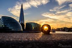 Little London Eye (Nuzulu) Tags: london thames sunset flare bolt ring theshard hmsbelfast towerbridge