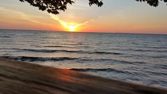 Lake Erie Deep Summer Sunset - Deck (Smith6612) Tags: water lake erie buffalo ny hdr sunset deep summer deck reflection orange
