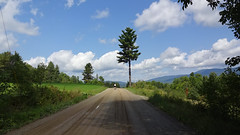 Montagne Verte (Shu-Sin) Tags: vermont green mountains cycling bicycle 650b dirt road greenery tree white clouds blue sky late summer