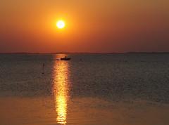 Ringkøbing sunset (Jaedde & Sis) Tags: sunset boat silhouette water challengefactorywinner unanimous thechallengefactory perpetualwinner