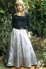 Day Time Silver (Amber :-)) Tags: long silver satin skirt tgirl transvestite crossdressing