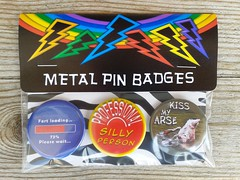 He he (rainbowbadgesonline) Tags: fart arse silly badges