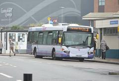 65010 YN54NZF (PD3.) Tags: 65010 yn54nzf yn54 nzf scania omnicity bus buses psv pcv hampshire hants england uk portsmouth solent first group fhd firstbus hard gunwharf quays