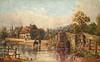 Eynsford, Kent (mgjefferies) Tags: england kent eynsford postcard painting corke charlesessenhighcorke river darent ploughinn ford