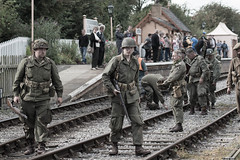 DSC_7390.jpg (john_spreadbury) Tags: ww2 mortar gi homeguard german blacknwhite johnspreadbury reenactment group rifle machinegun stengun cricklade swindon railway troops army english americans uniforms smoke wartime soldiers british