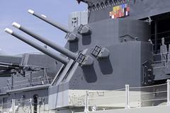 USS North Carolina 5 In. Guns (dcnelson1898) Tags: travel southeast vacation wilmington northcarolina battleship bb55 northcarolinaclass warship worldwar2 usnavy militaryhistory museum