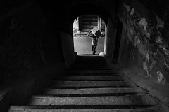 Buyuk Valide Han, Istanbul (Mustafa Selcuk) Tags: 16mm 16mmf14 2016 buyukvalidehan eminonu fujifilm istanbul street streetphotography xpro2 blackandwhite bnw bw bwphotography siyahbeyaz sb turkey