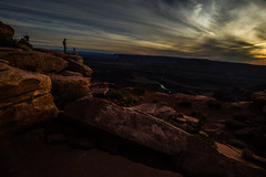Sunset at Dead Horse (Cathy Donohoue) Tags: cathydonohouephotography deadhorsepointstatepark landscah oldwesterns utah cloudysunset naturephotography redrocks