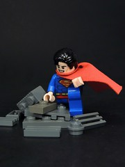 Super Hero Landing (MrKjito) Tags: lego minifig super hero landing superman clak kent dead pool ground shattering man steal dc comic comics