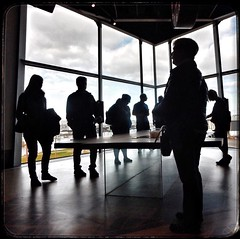 Framed (foggyray90) Tags: titanic belfast silhouettes frame window table glasssupports