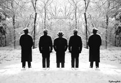 the frozen five (HansHolt) Tags: wood trees shadow sun snow men hat forest frozen frost 5 five statues snowmen mirrored rememberthatmomentlevel4 rememberthatmomentlevel1 rememberthatmomentlevel2 rememberthatmomentlevel3