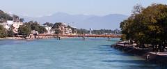 Ganga (GavinZ) Tags: travel bridge india water river asia delhi ganga ganges haridwar uttarakhand