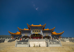 Chongsheng Temple, Dali, Yunnan Province, China (Eric Lafforgue) Tags: china travel vacation sky color colour history horizontal mystery architecture temple photography pagoda ancient asia day outdoor religion buddhism nobody nopeople tourist copyspace ornate yunnan dali majestic thepast buildingfront traditionalculture eastasia placeofworship chineseculture colorimage chineselanguage buildingexterior colorpicture placeofinterest lowangleview yunnanprovince traveldestination colourimage builtstructure chongshengtemple traditionallychinese a0007214