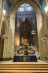 York (alh1) Tags: york decorations england balloons stars advent places screen altar organ nave yorkminster northyorkshire