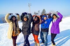 Winter portrait at Hyundai Sungwoo Resort, South Korea (UweBKK (α 77 on )) Tags: winter girls portrait people woman mountain snow man ski men ice girl fashion sport fun outfit women sony south korea resort alpha dslr hyundai 550 wonju gangwon sungwoo