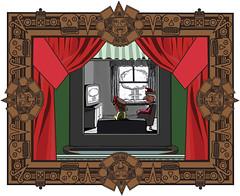 mayanabyme (Josh Torin) Tags: art television computer graphics theater josh mayan pastiche apocalyptic puppetshow punchandjudy mushroomcloud domesticscene misenabyme joshtorinmckeon hieroymus