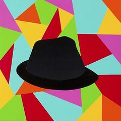 Magic charm Hat. 30 x 30 cm. Acrylic on linen. 2012