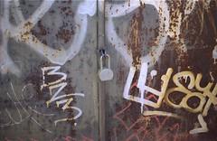 williamsburg bit (Atomic Citrocity) Tags: film graffiti minolta lock x370