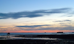 Joli ciel (cyann90) Tags: sunset france rouge noir day sundown cloudy fort panasonic bleu ciel nuages crpuscule plage coucherdesoleil fortboyard le ocan borddemer ledaix fortnet