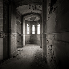 A Threatened Legacy: Epilogue | Study II (Jeff Gaydash) Tags: blackandwhite church saint square decay detroit agnes legacy threatened