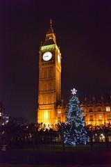 DSC_1982  Big Ben at Night (labels_30) Tags: london bigben christmastree clocktower britishparliementbuildings