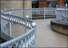 Twisting Railings .. (* Janets Photos*Site to slow to Comment) Tags: uk structures railings scunthorpe onexplore northlincolnshire towncentres steelworkironworks