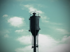 Railroad Water Tower (Kalaab M. Pickering) Tags: railroad train vintage watertower depot steamengine