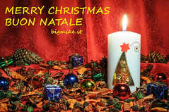 Buon Natale - Merry Christmas (bigmike.it) Tags: xmas light painting candle natale candella mygearandme