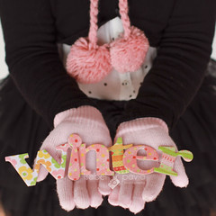 Happy winter (Isabel Pava) Tags: pink winter girl words hands gloves getty claudia gettyimages gettyimagesiberiaq3 gettyimagesiberiaq12012