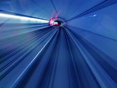 Time keeps on slipping into the future... (Lumatic) Tags: new eve blue light motion blur public digital speed train germany season underground subway bayern deutschland bavaria photography photo traffic metro photos space year transport trails surreal tunnel shades online ubahn rails years greetings spacy digitalphoto digitalphotos mobility oncoming 2013