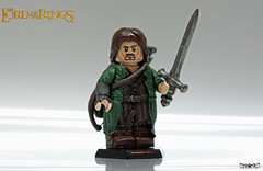 Aragorn II Elessar (.mclovin.) Tags: lego lord rings bow figure sword arrow aragorn sculpting sculpt brickforge