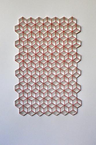Herman Coppus papierreliëf met acryl