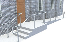 Top Rail ADA Railing - Ramp & Stair