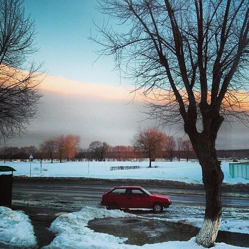 #belarus #mozyr #december #winter #sunrise