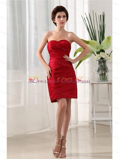 brand new wine red sweetheart prom dress with ruch