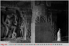 may 2013, wallpaper calendar (photographics by nevil zaveri) Tags: world desktop travel light wallpaper people blackandwhite bw sculpture woman india heritage tourism monochrome rock photography blog women photographer calendar photos interior stock pillar columns may free images carving unesco caves photographs photograph maharashtra column months myfamily shiva hindu zaveri saree month sculptures shiv basalt stockimages travelogue ellora nevil rockcut downloadable freedownload 2013 theverybestofme nevilzaveri aetrip