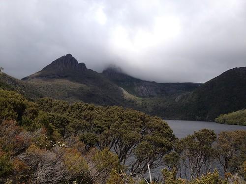 Cloud over the main peak