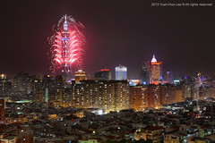 Happy New Year 2013 & Taipei 101 Fireworks  Jan. 1, 2013 (*Yueh-Hua 2013) Tags: longexposure sky building tower architecture skyscraper canon landscape eos fireworks 101 5d    canonef2470mmf28lusm  happynewyear       101  canoneos5d   groupef horizontalphotograph markins    l  taipei101internationalfinancialcenter sirui tigerpeak   photoclam ballheads 188  n2204 pc44ns siruin2204 pc69up3 pg50cameraplate 2013timefortaiwan  2013january