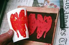 21440008-84 (jjldickinson) Tags: wood fish paper print cherry carving longbeach card tsukiji printmaking wrigley olympusom1 woodblock paletteknife rives danielsmith fujicolorsuperiaxtra400 mokuhanga laserengraving permanentred watersolublereliefink acrylicretarder rivesheavyweight promastermcautozoommacro2870mmf2842 promasterspectrum772mmuv roll399