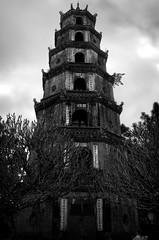 Tien Mu Pagoda (William J H Leonard) Tags: blackandwhite bw monochrome asian temple pagoda asia southeastasia vietnamese buddhist vietnam hue tienmu hdr highdynamicrange hué southeastasian northernvietnam blackwhitephotos imperialcapital tienmupagoda tienmutemple