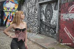 Leticia Freitas (Vanderlei Gomes Fotografia :-]) Tags: brazil woman girl rock brasil model do mulher modelo teen blonde batman roll garota paulo menina so loira beco rockeira