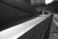 A40 (Medienmalocher) Tags: a40 ruhrarea blackandwhite art street autobahn ruhrpott empty emptystreet documentation streetphotography strasenfotografie bird deadbird lines highway glove windows lost lostplace construction barrier